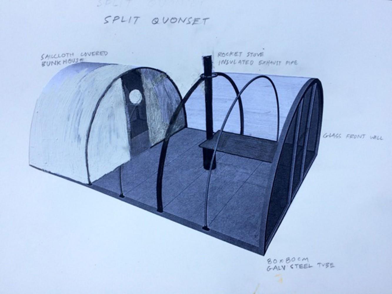 friche escalette marseille évènement Oscar Tuazon<br />&#8220;Quonset Tent&#8221;